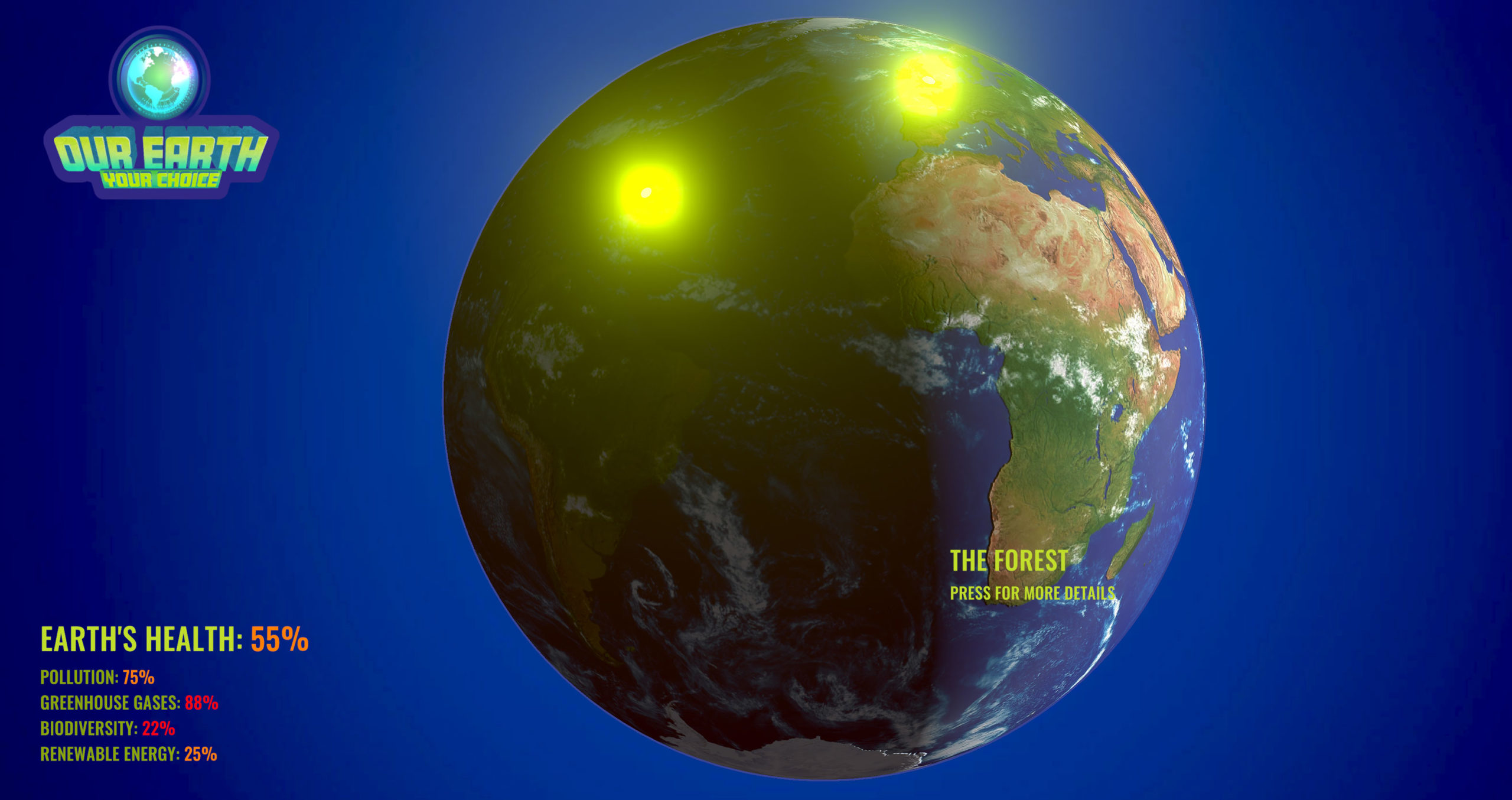 Earth Menu System