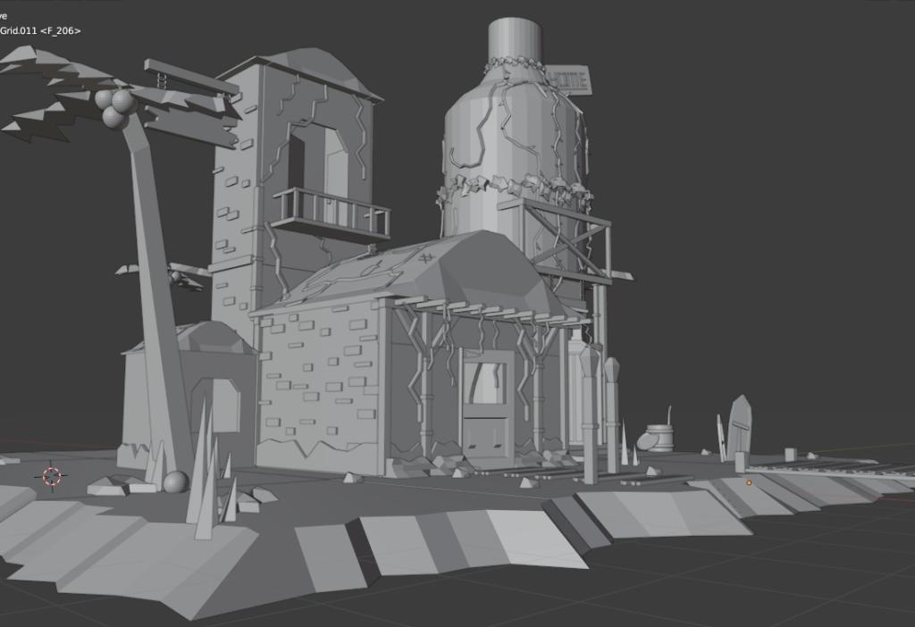 3D Ocean Island Design