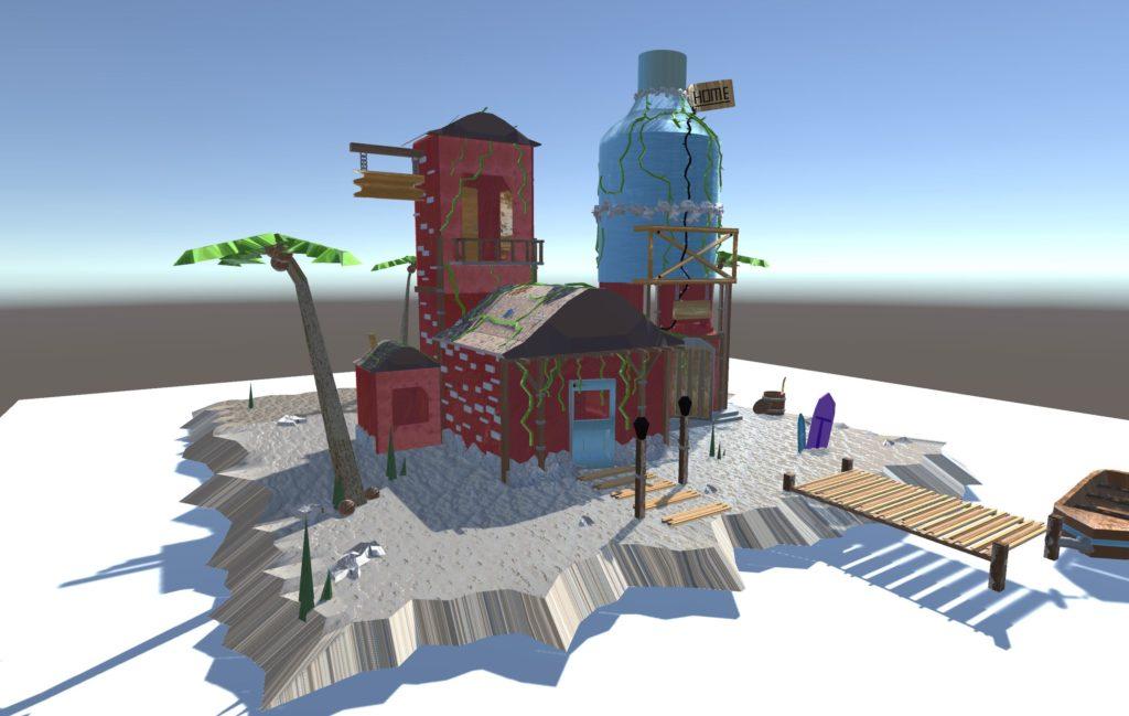 Textured Island 3D Models